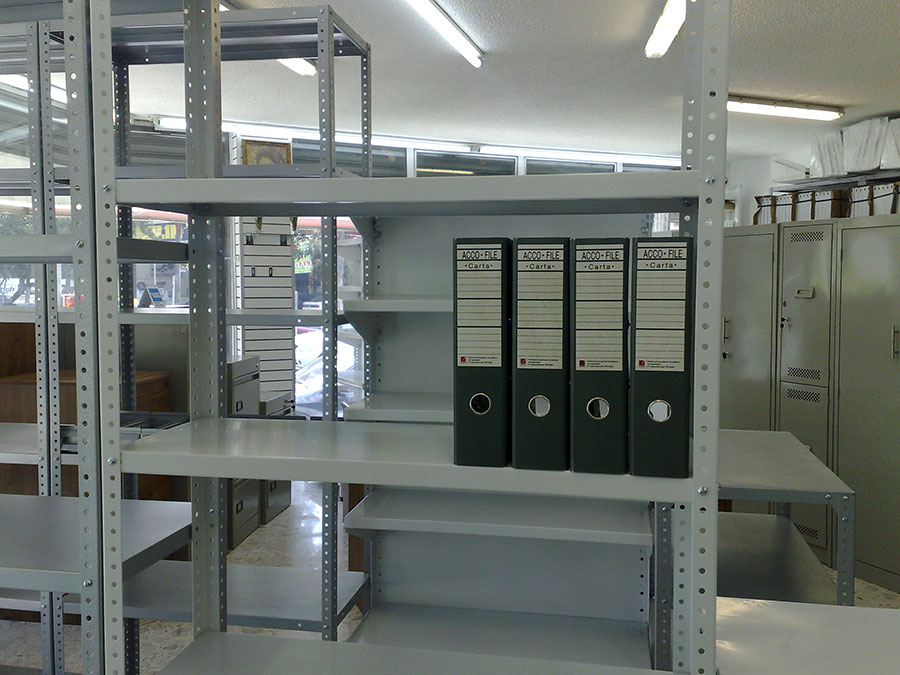 Estanteria metalica anaqueles metalicos estantes for Estantes de oficina